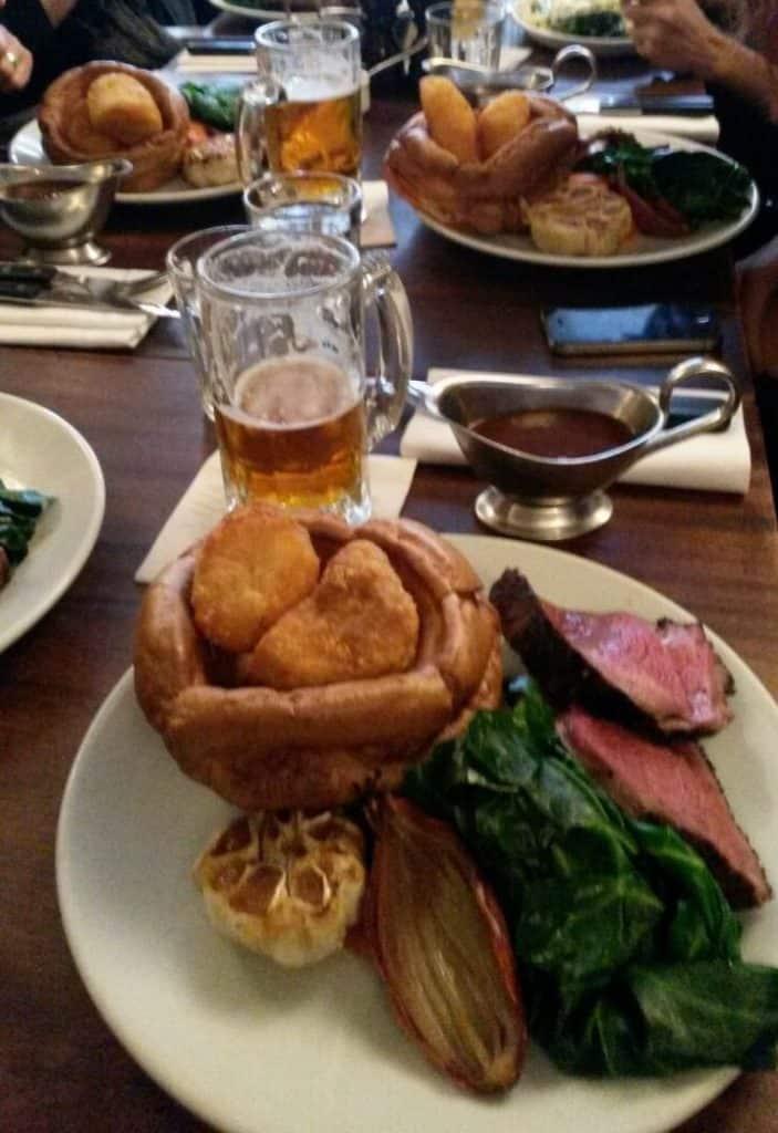 Sunday roast at the Hawsmoor