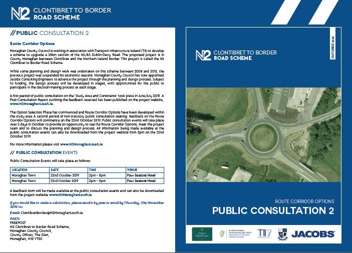 N2 Clontibret to Border Public Consultation Events