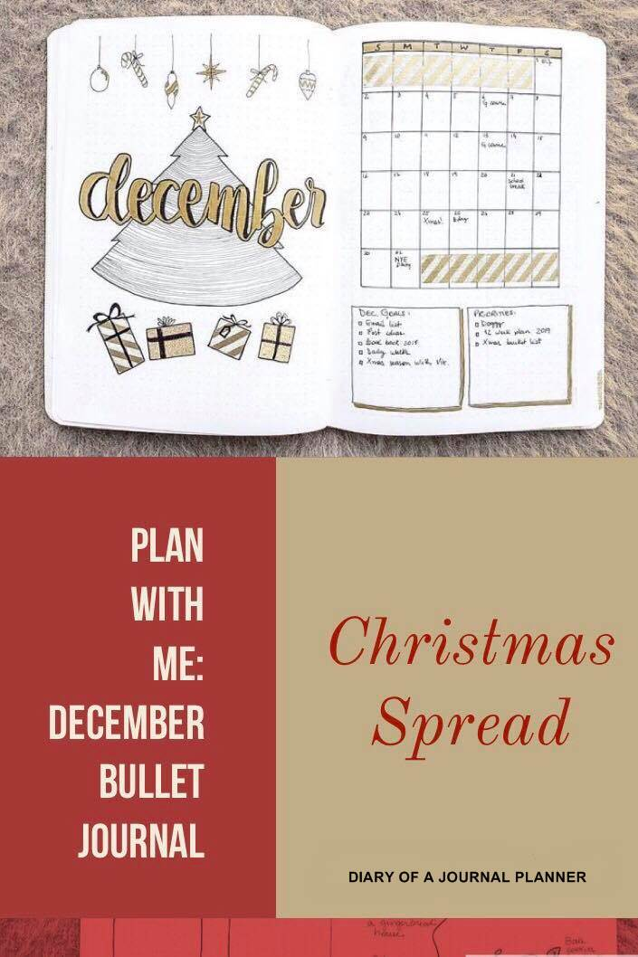 Plan With Me December bullet journal. Christmas Ideas for Bullet Journal