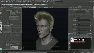 Autodesk Maya 3D моделирование волос