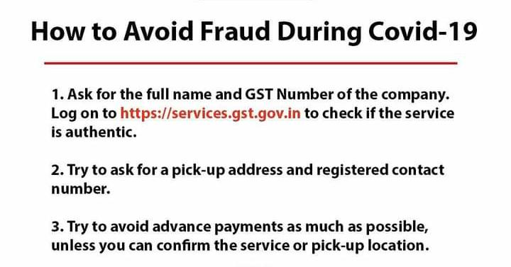 Fraud Complaint in Covid19