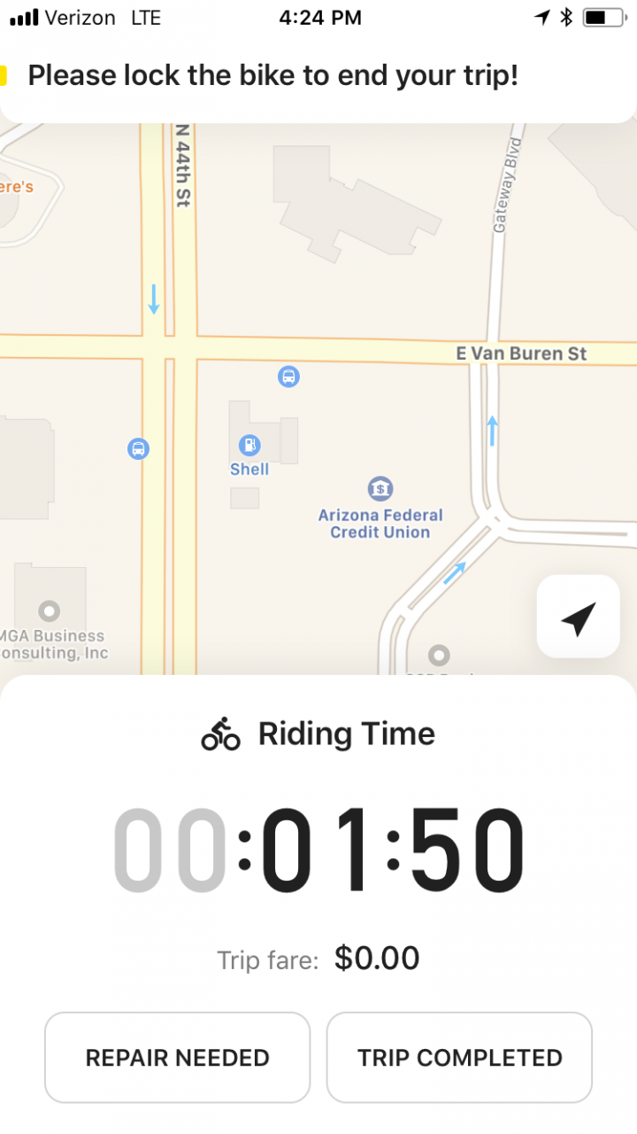 Ofo bike share screenshot
