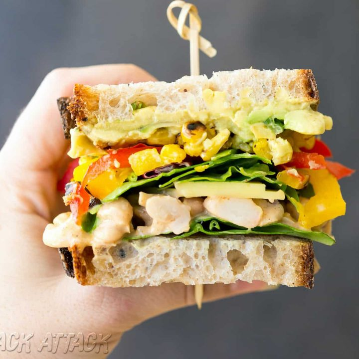 Chipotle White Bean Salad Sandwich