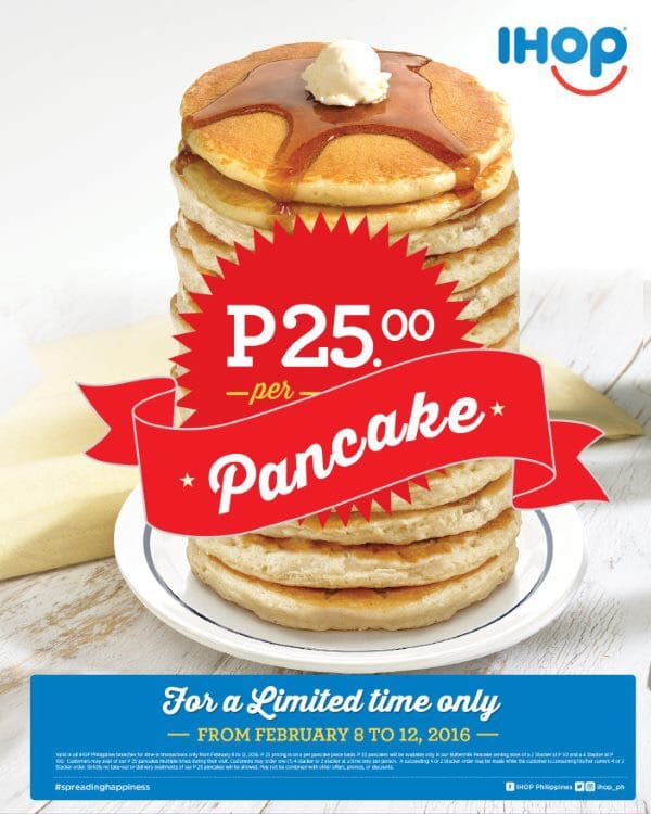 Enjoy IHOP Philippines' Php25 pancake promo and Red Velvet pancake combo!