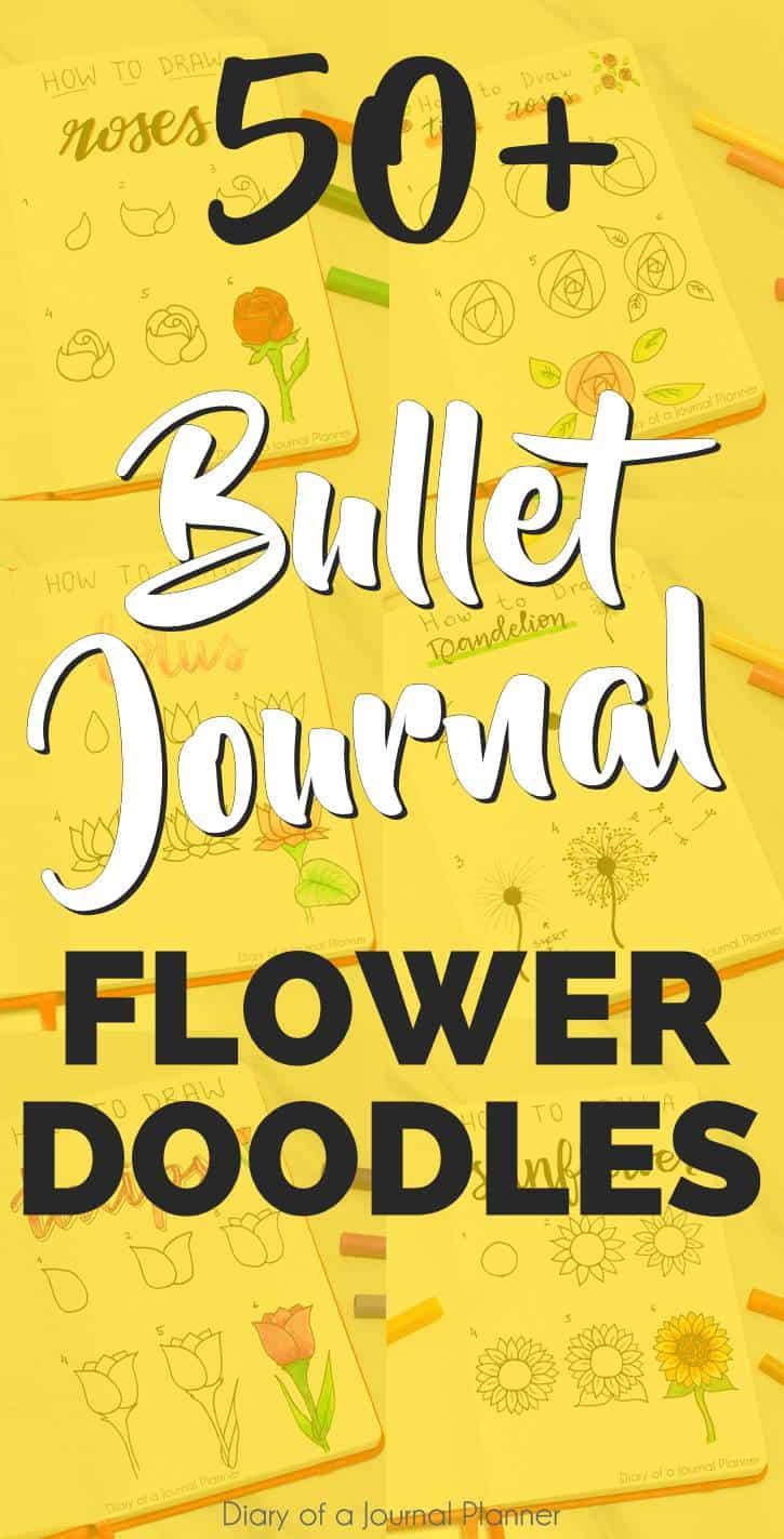 bullet journal doodles flowers
