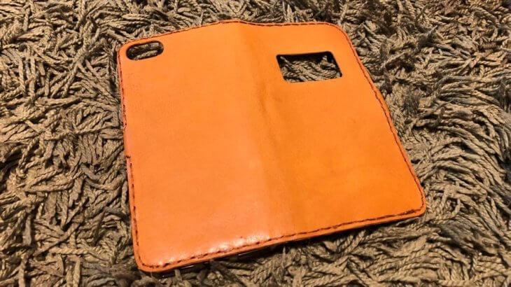 革のハギレでiPhone8の手帳型ケースを作ってみたお話②