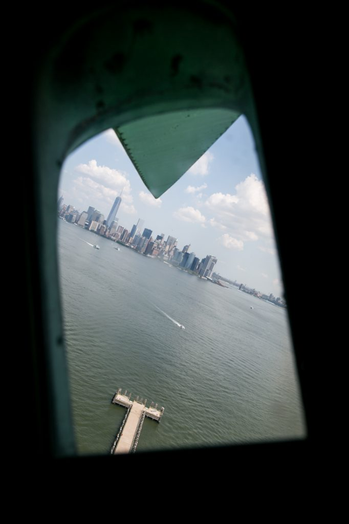 View from the Statue of Liberty crown