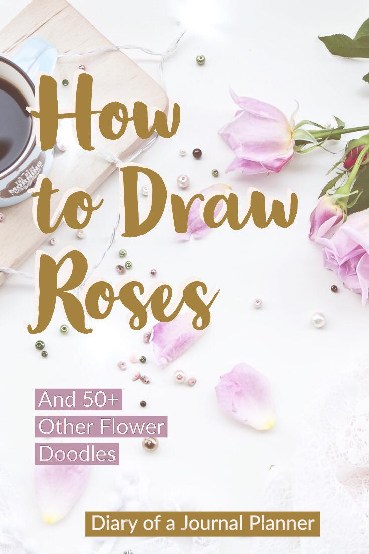 How to draw flowers for bullet journal