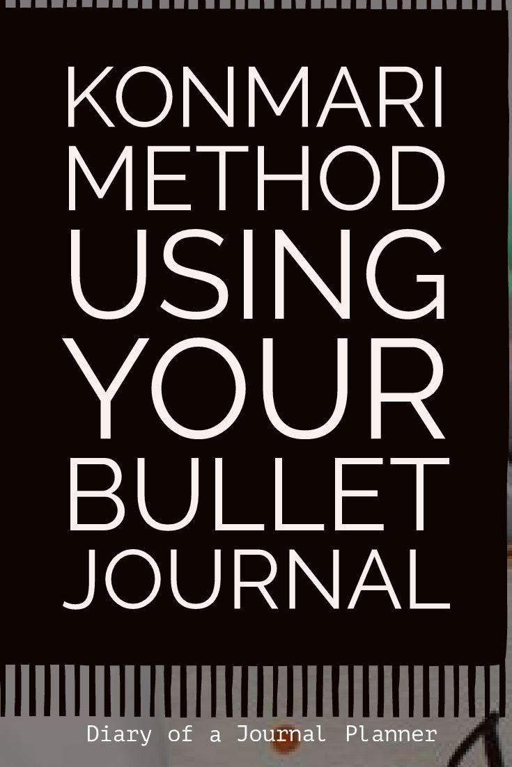 Using your bullet journal for konmarie checklist