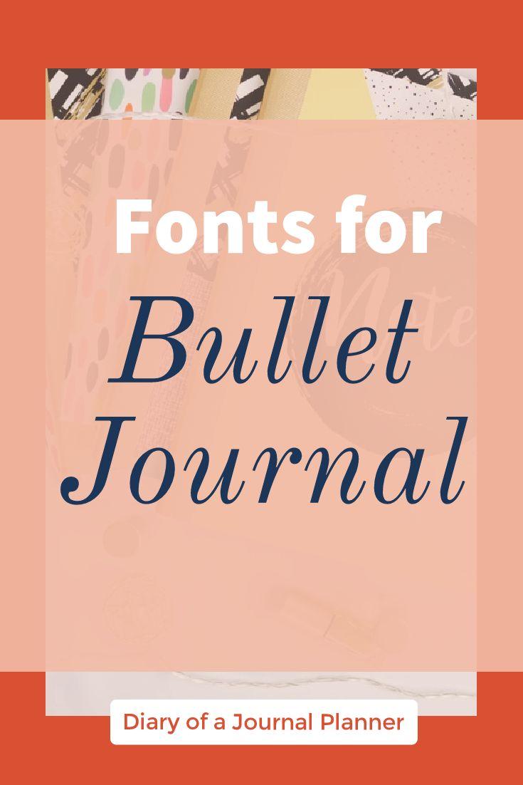 Fonts for bullet journal