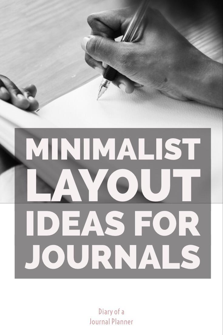 minimalist layout ideas for bullet journal