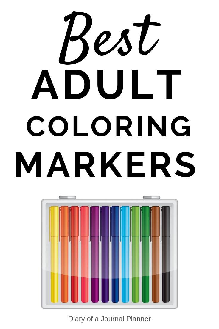best adult colring markers for your coloring books or pages