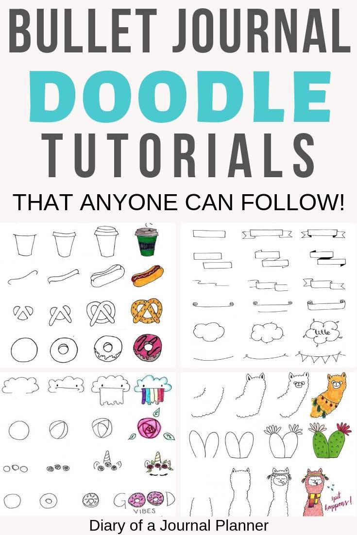 Amazing bullet journal doodle tutorials that anyone can follow!