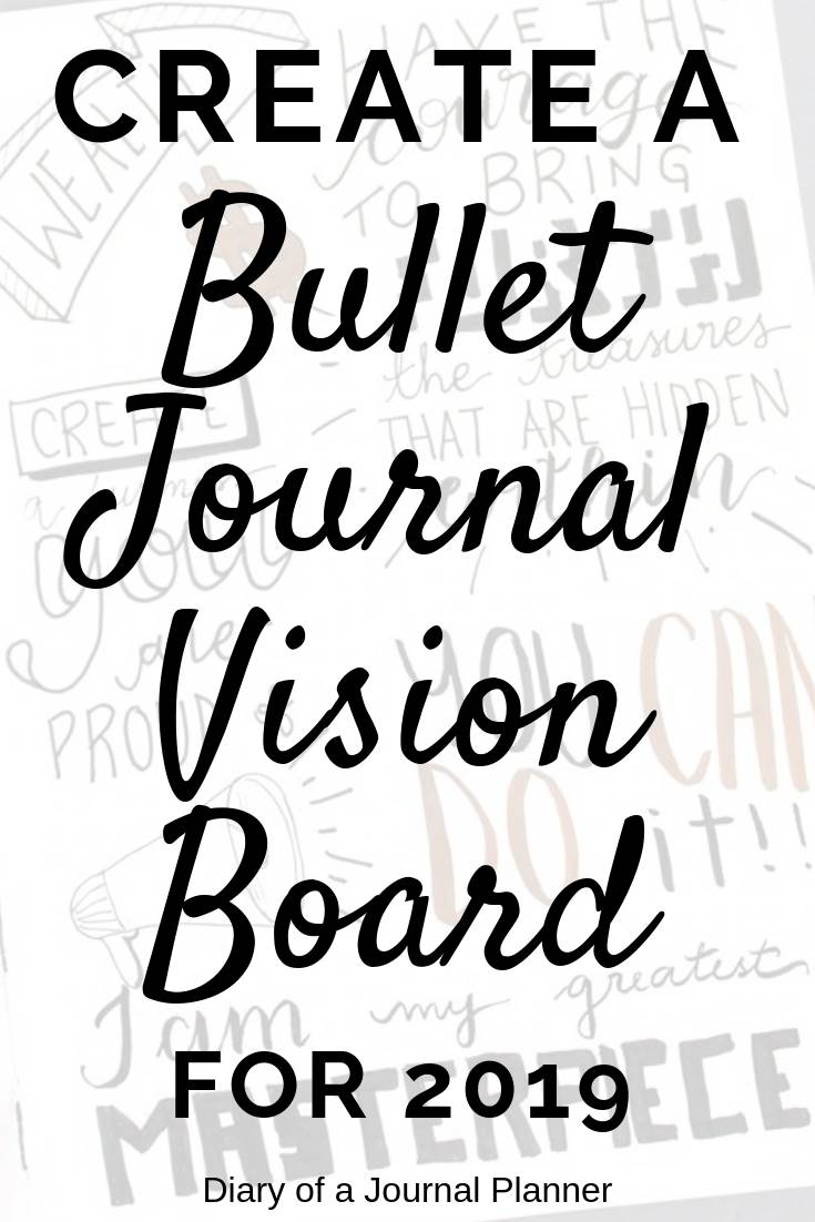 How to make a vision board in your bullet journal