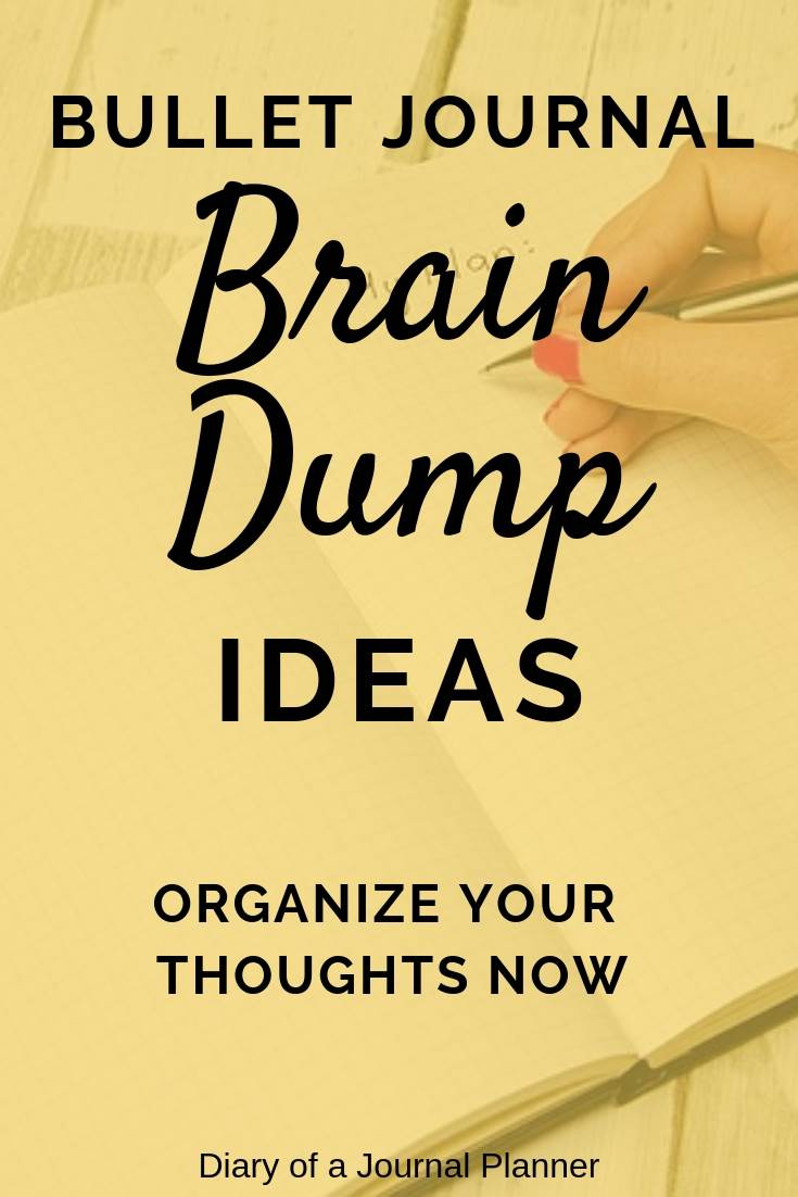 Bullet Journal Brain Dump Ideas
