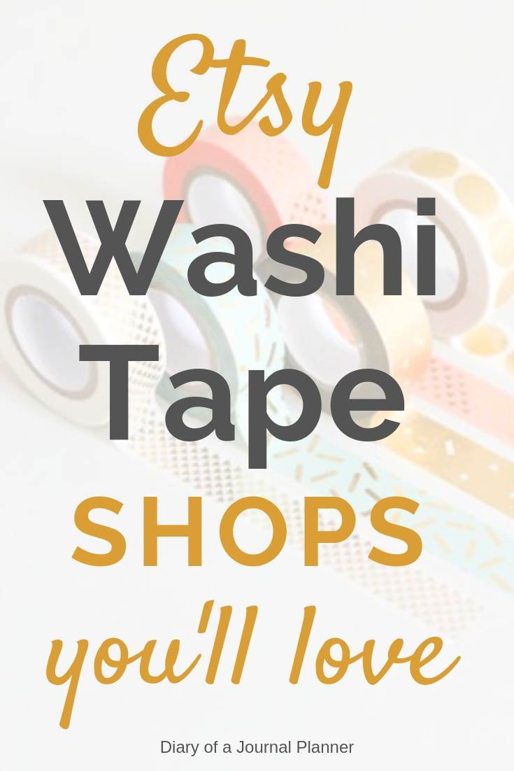 Etsy washi tape shops you will love