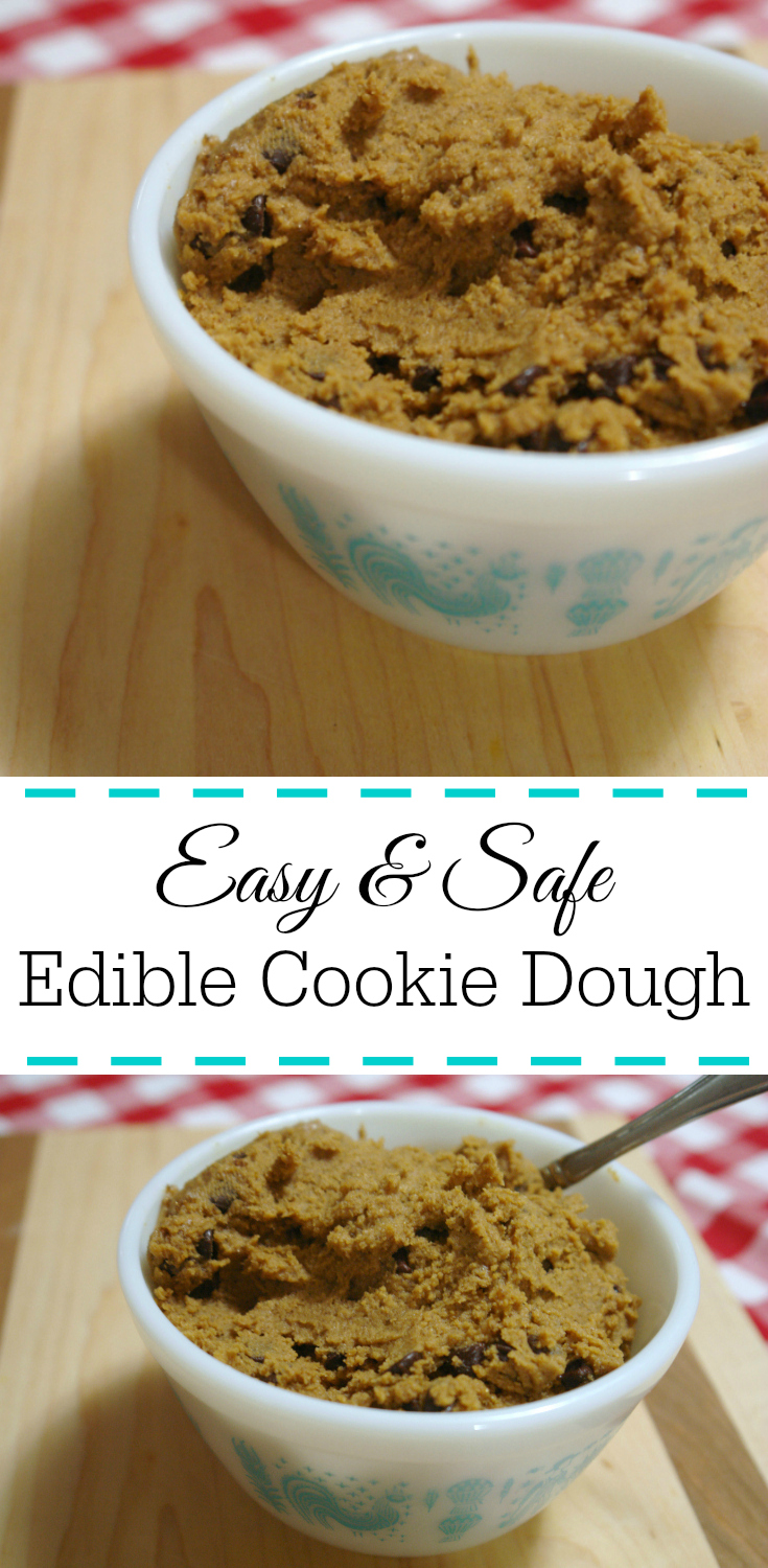 edible cookie dough, chocolate chip cookie dough, safe cookie dough, raw cookie dough
