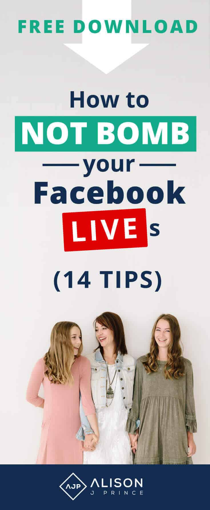 How to do a Facebook Live - 14 Tips from Alison Prince
