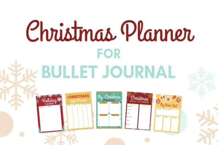 Free Christmas Printables for your Bullet Journal