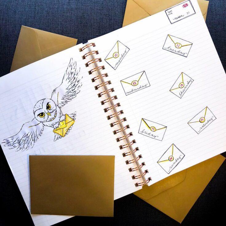 Weekly Harry Potter bullet journal spread