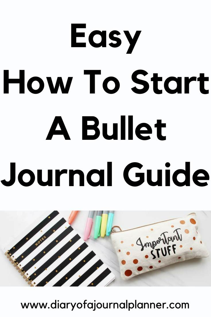 Easy guide to start a bullet journal #bulletjournal #bujo #journaling #planning