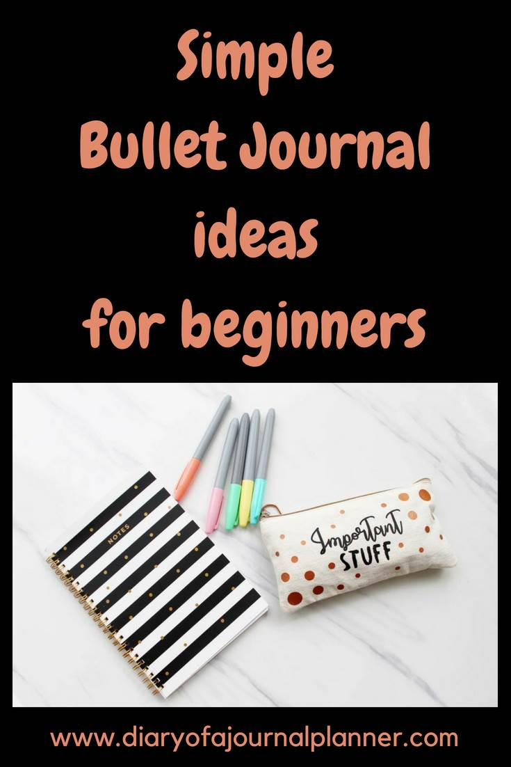 Simple bullet journal ideas for beginners #bulletjournal #bujo #journaling #planning