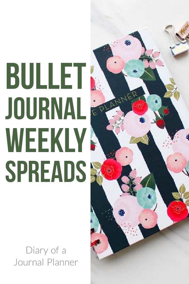 Bullet Journal Weekly Spreads