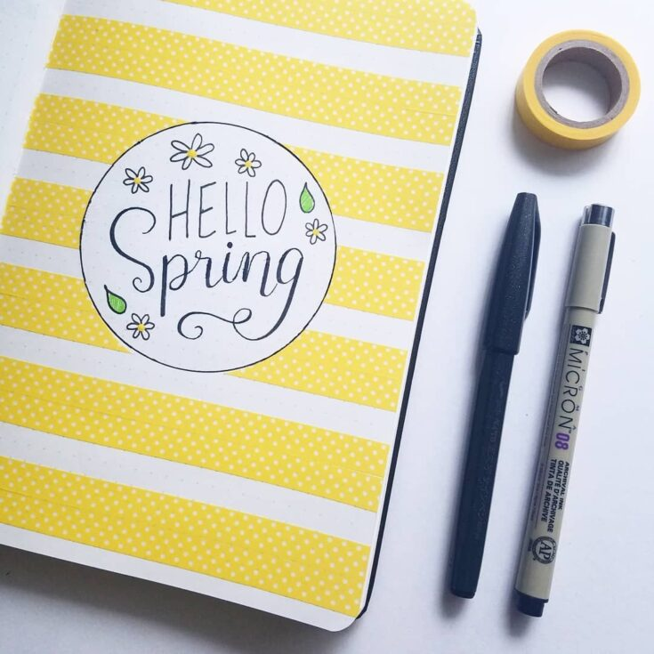 Yellow Monthly Cover Page