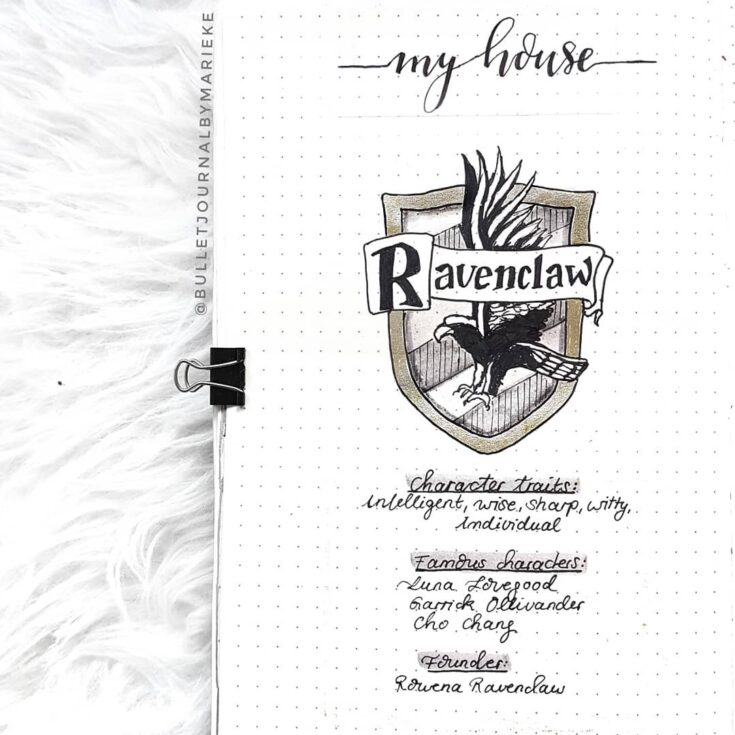 Hogwarts house journal page