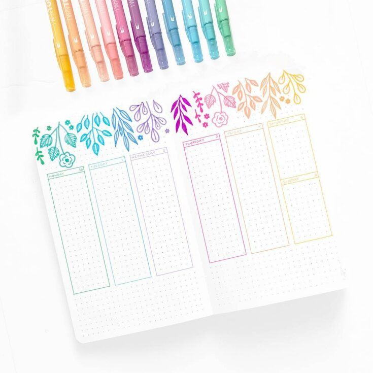 Floral Ideas For Bullet Journal