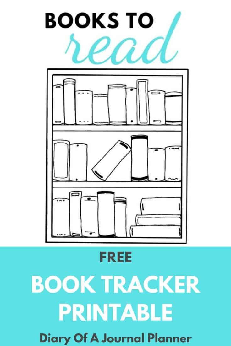Free Book Tracker Printable For Bullet Journals