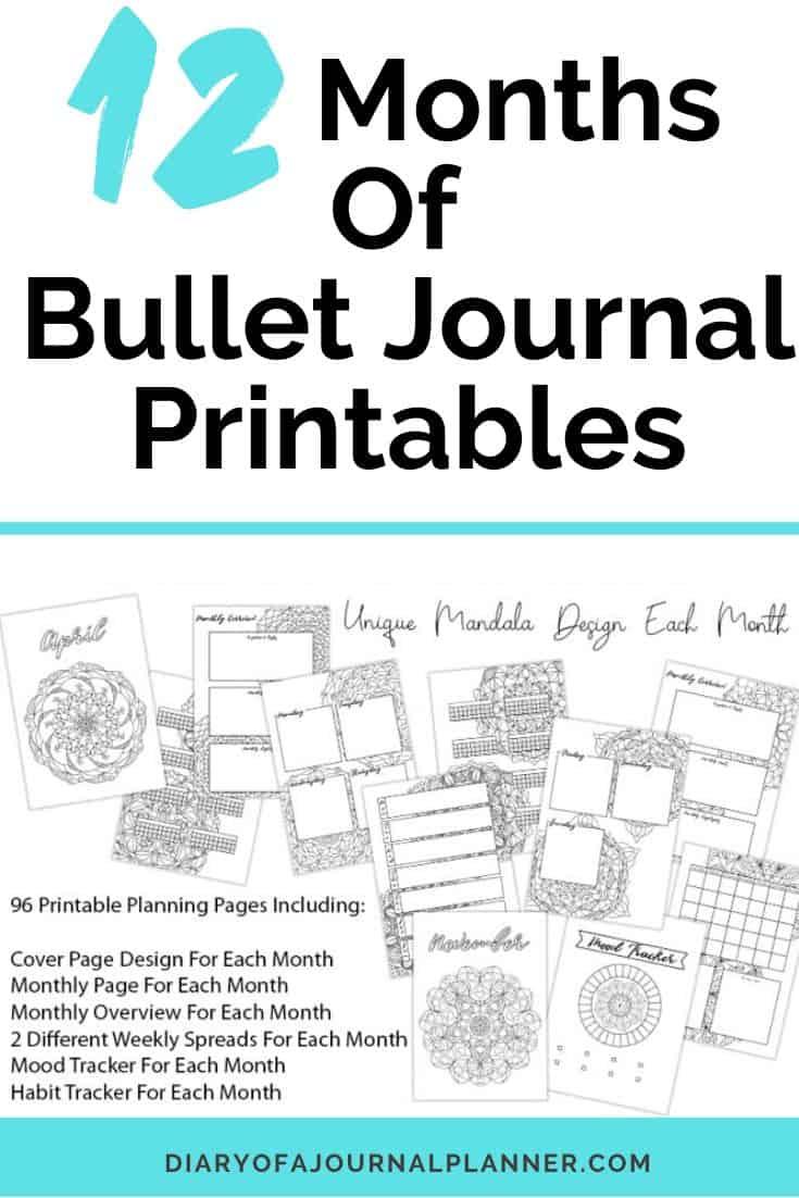 Year Bullet Journal Printables