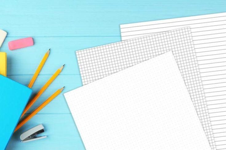 Bullet journal dot grid printable page