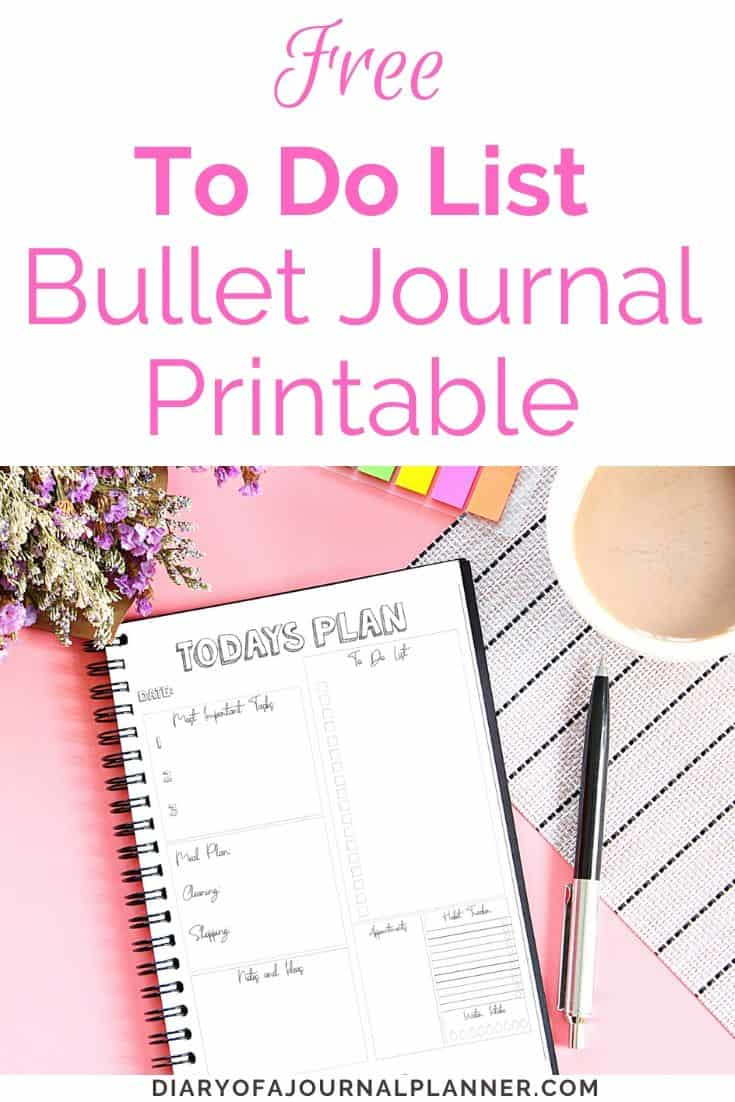 Bullet Journal To do list