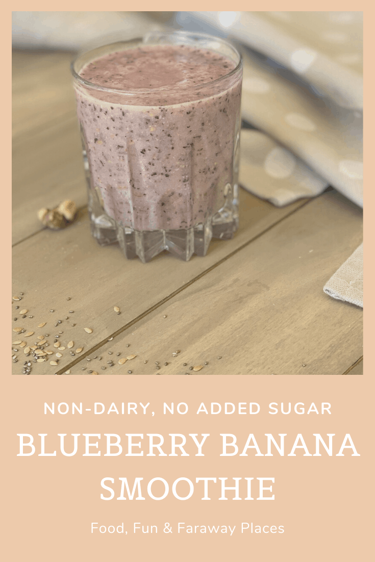 A blueberry banana smoothie is a great way to start any day, and this one has no added sugar and is dairy-free.