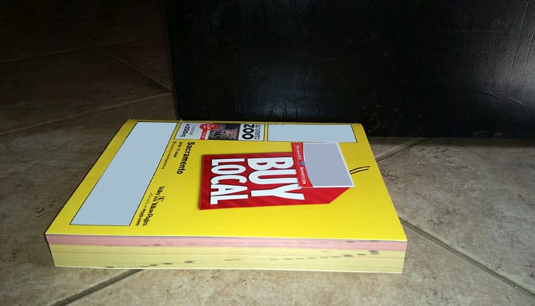 Yellow Pages as a Door Stop