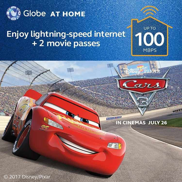 globe at home - gobig - disney - pixar - cars 3 - broadband