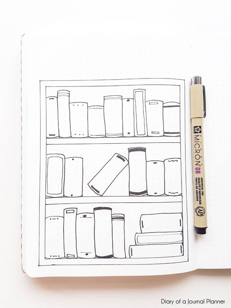books to read bullet journal