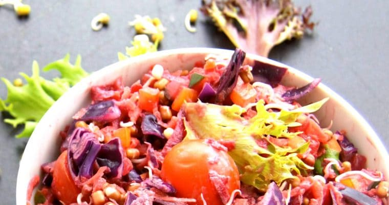 Moong Sprouts Salad (Green Gram Sprouts Recipe)