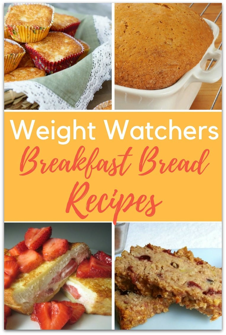 Did you know there are hundreds of Weight Watchers breakfast bread recipes? Good thing, too, because I love it! Bread is one of those foods that seems to be an enemy of weight loss.