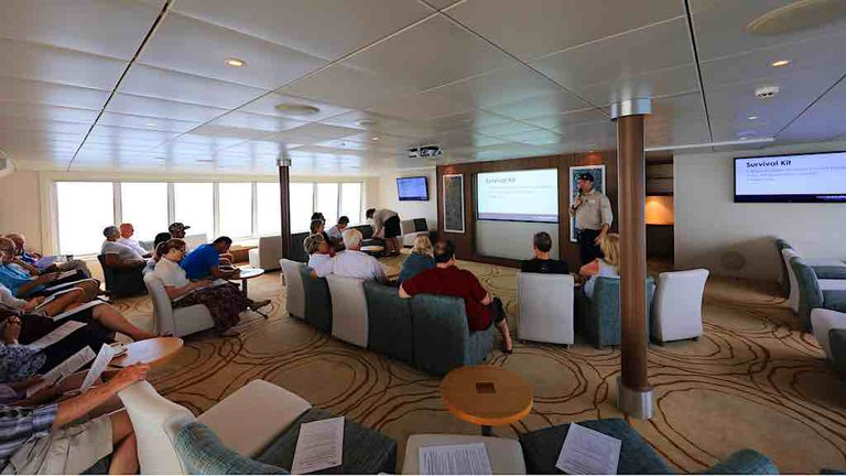 Coral Discoverer lecture lounge