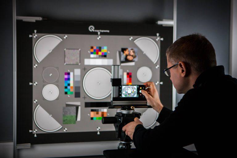 Test Chart Setup Camera Testing