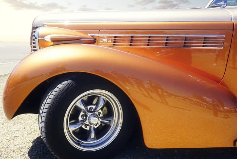 orange car paint