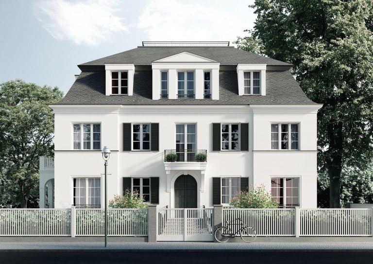 Dahlem Duo Berlin Mehrfamilienhaus Frontansicht