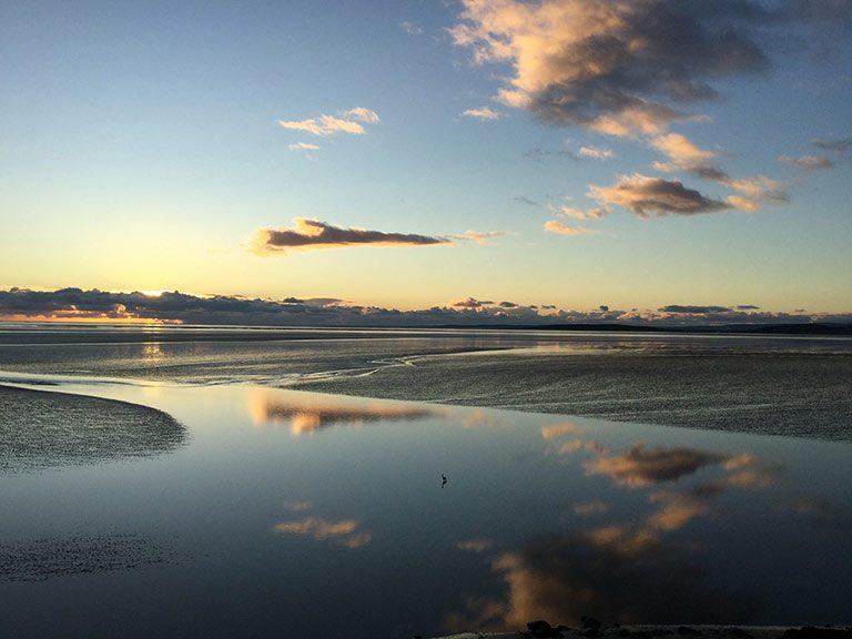 Sunset over the Kent Estuary at Sandside in Cumbria