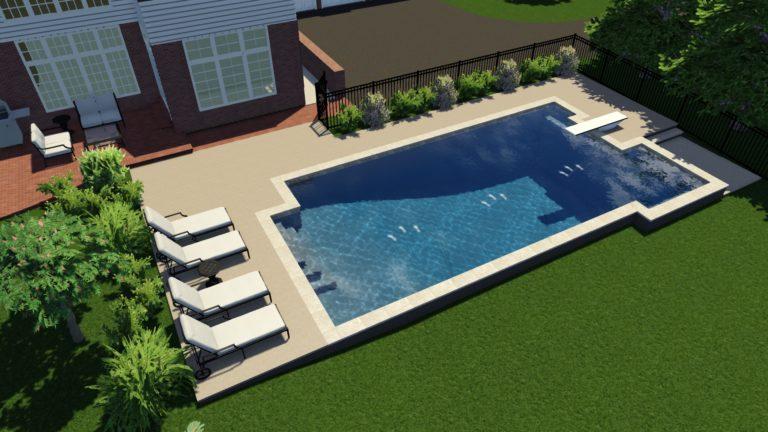 Custom Rectangular Pool Model in Frontenac