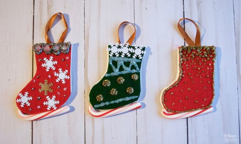 candy cane ice skate ornaments pin