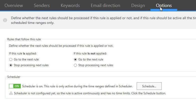 CodeTwo Options Rule