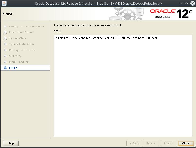 Install Oracle Database 12c on Centos 7 10