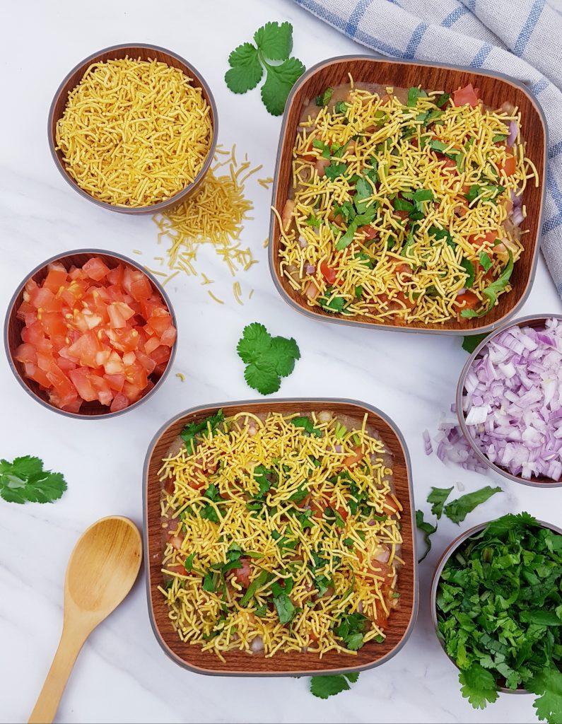 masala puri chaat